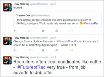 Pactive tweets from Future Recruitment event