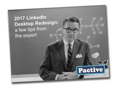 Free LinkedIn Guide from Pactive